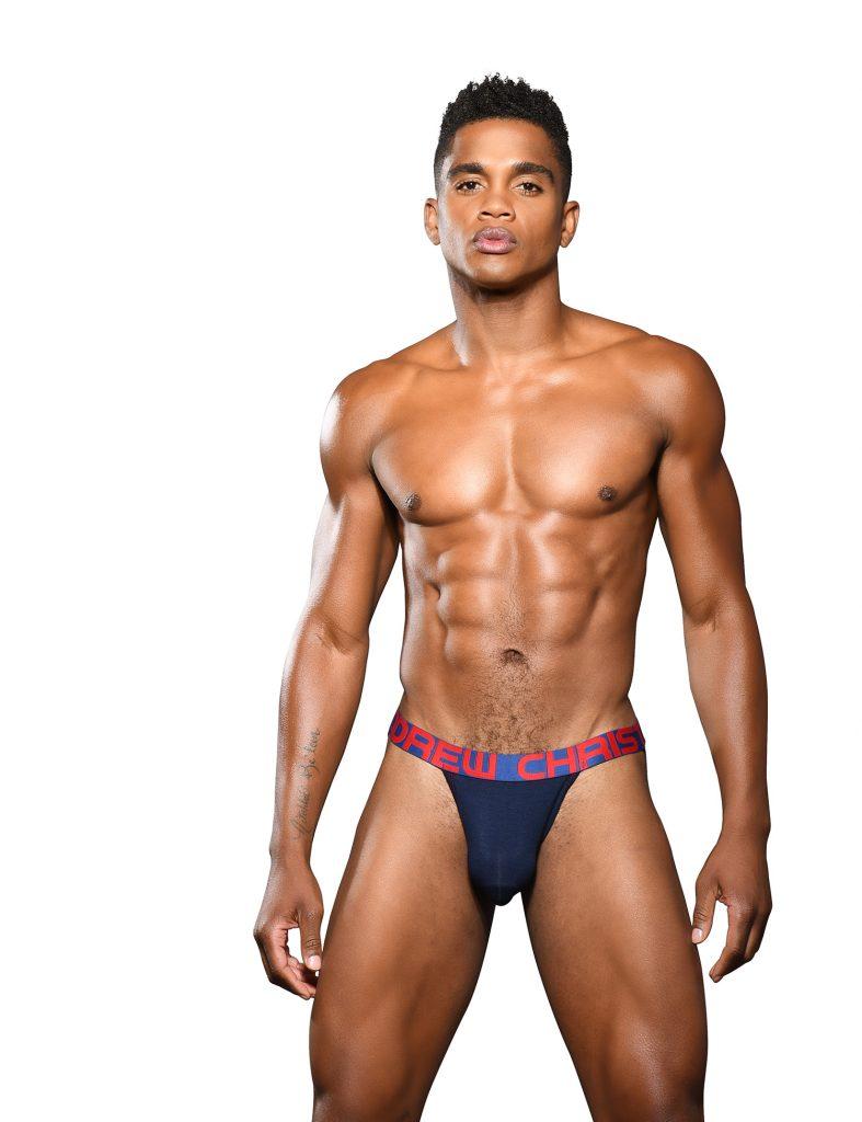 Andrew Christian underwear Almost Naked Bamboo Jock 92023 Jock - Navy