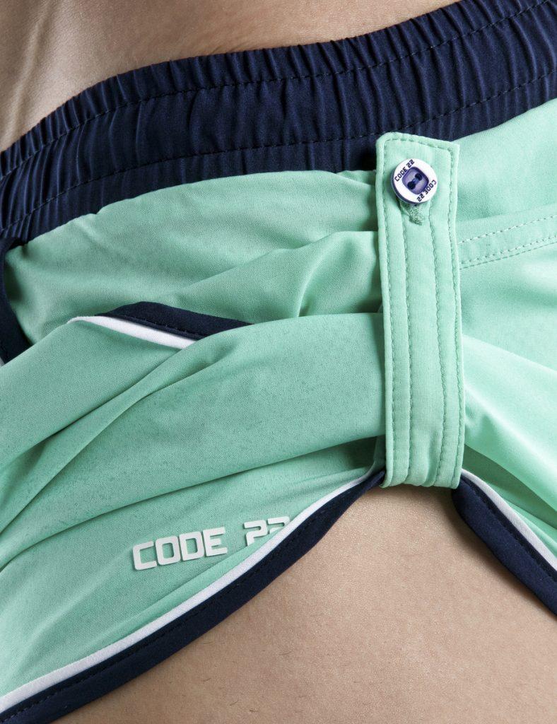 CODE 22 swimwear - Basic Swim Short - Green