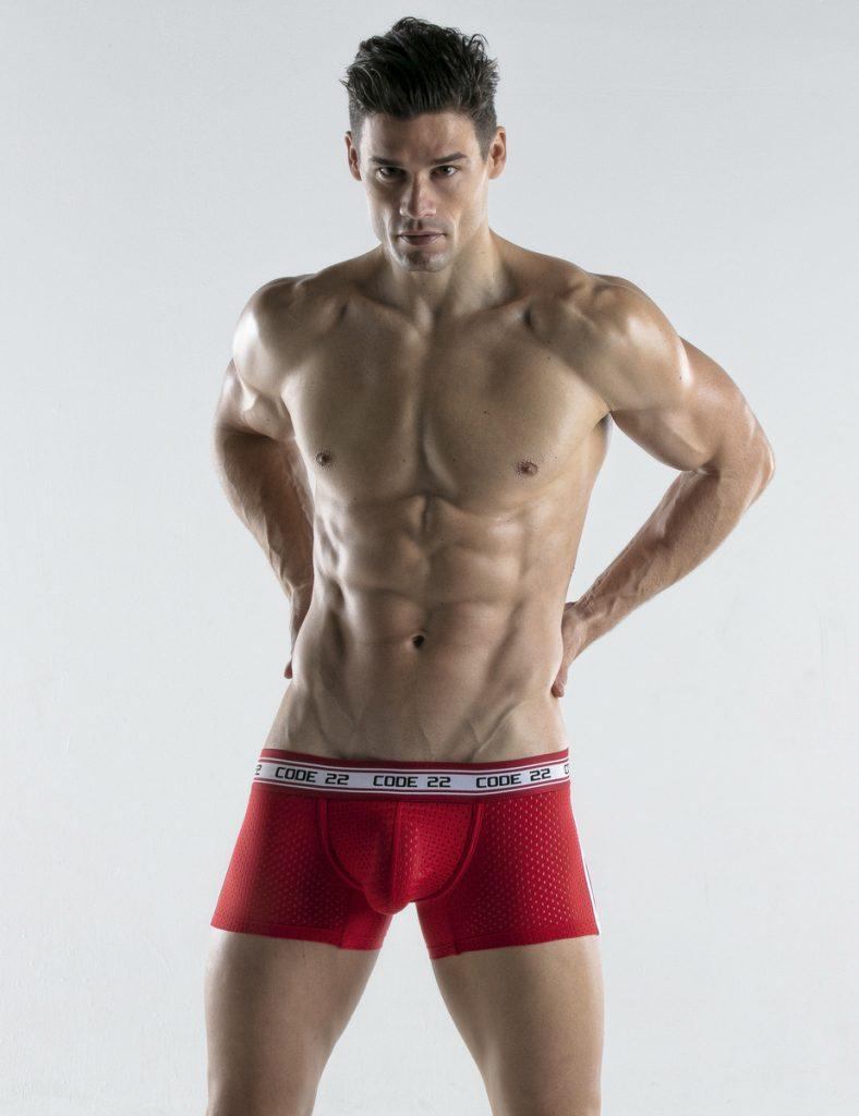 CODE 22 underwear - Energy Trunks Red