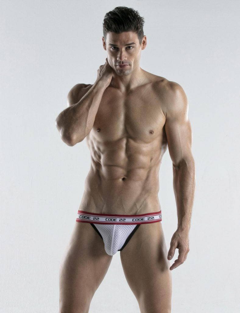 CODE 22 underwear - Energy Jockstrap white