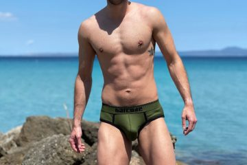 Barcode Berlin - Solger Briefs Khaki - Model Stathis for Men and Underwear