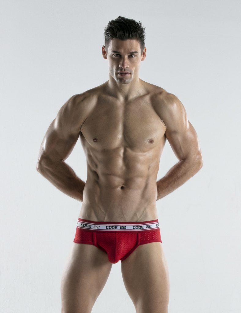 CODE 22 underwear - Energy Briefs red