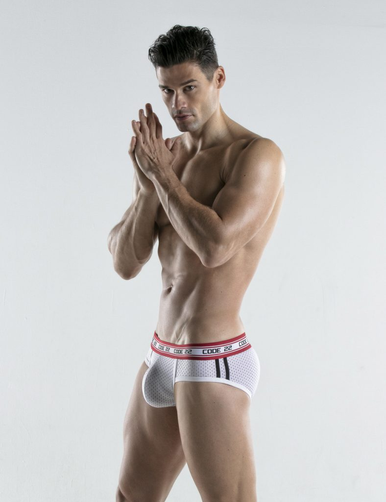 CODE 22 underwear - Energy Briefs white