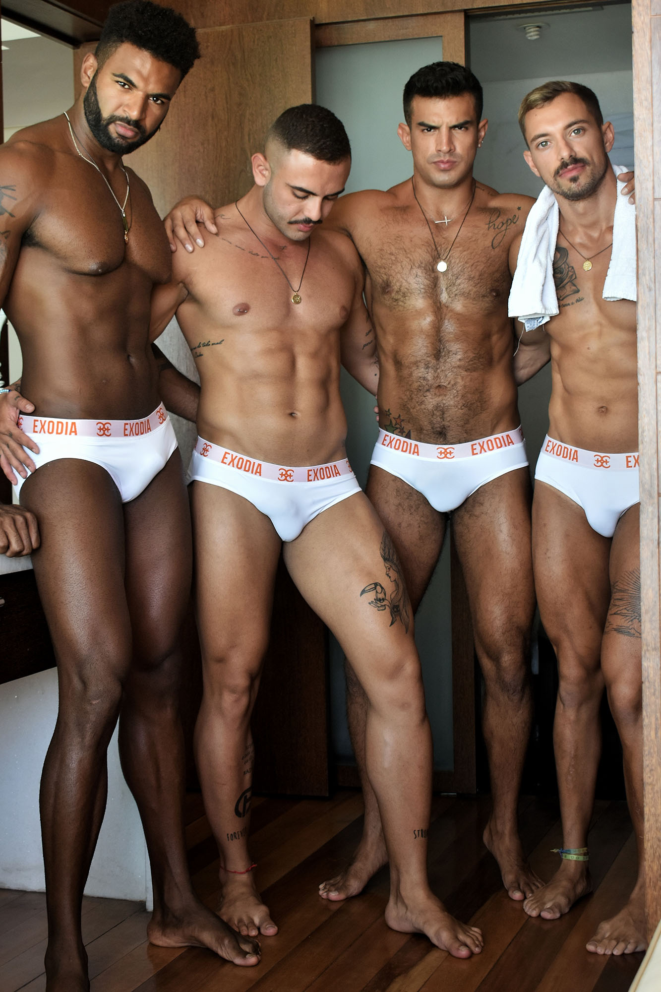 Exodia underwear - modelsJuanFer De La Torre, William Santos, Gian Bastos and Thomas Cerrini