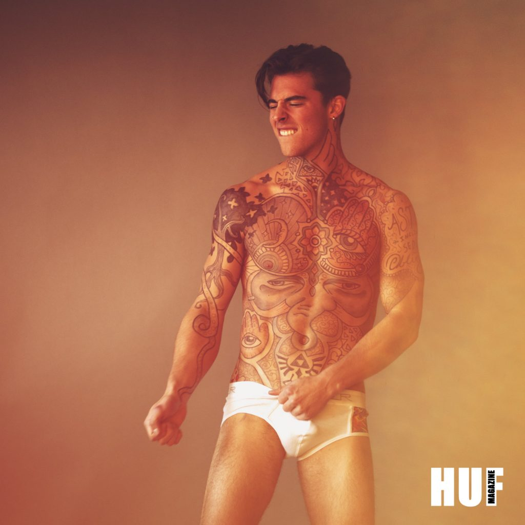 Jerrin Strenge by Tyson Vick for HUF Magazine - Clever underwear
