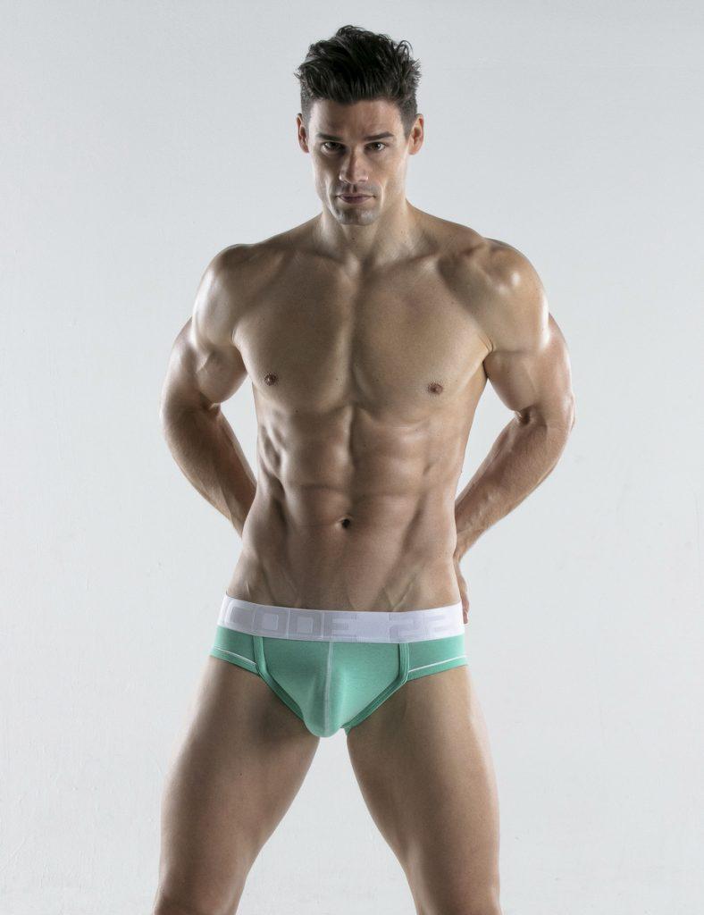 CODE 22 underwear - Bright Briefs aqua