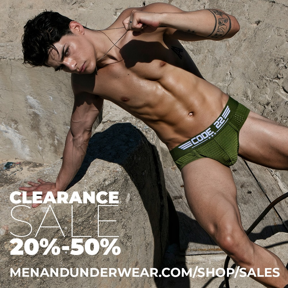 Clearance sales at Men and Underwear