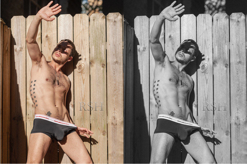 PhotoRSH - model Tony in AMU underwear