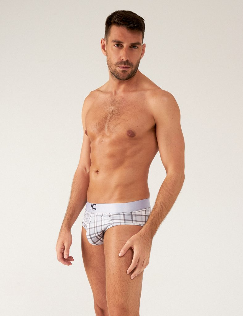 Adam Smith - underwear - Saltire Bikini Briefs Grey