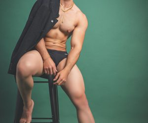 Daniel in Persuid swimwear