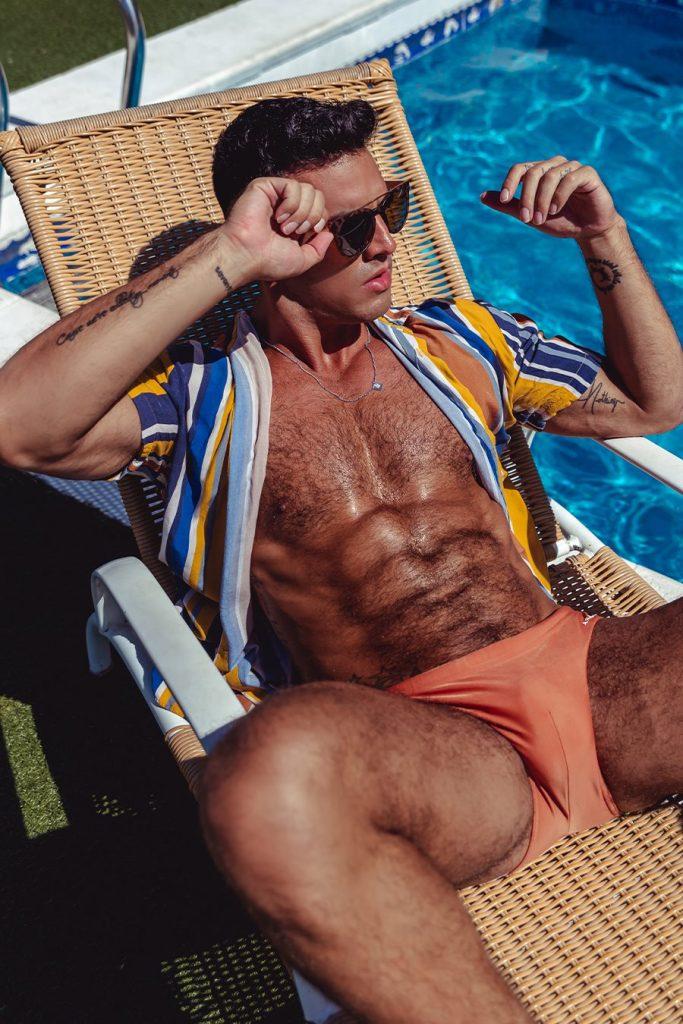 Juan de la tore in Aronik swimwear