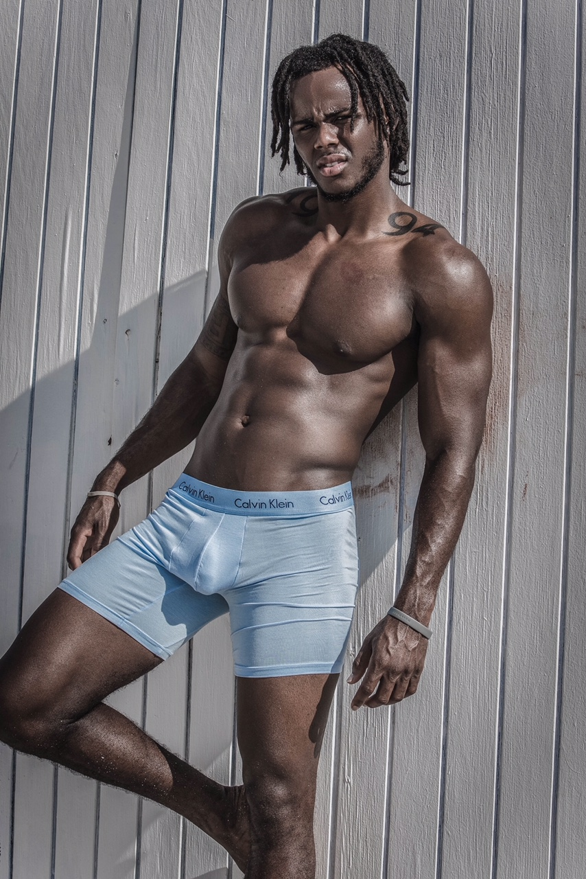 Model Twhy Baby photographed by BigShotPhoto Calvin Klein