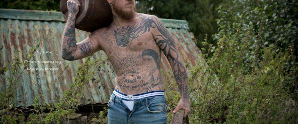 Model Jay Lev photographed by Markus Brehm - Bluebuck underwear