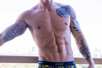 Reece Holder photographed by Harold Mindel in 2XIST underwear