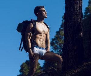 Walking Jack - underwear - Core Trunks - White:Blue