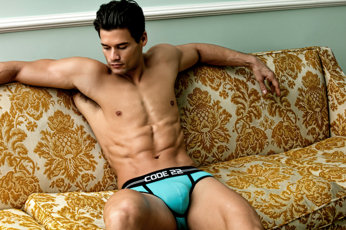 Code 22 underwear - City Lights Briefs Aqua blue