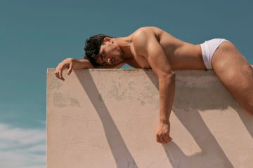 George Paraskevas photographed by Andreas Konstantinou in Calvin Klein underwear