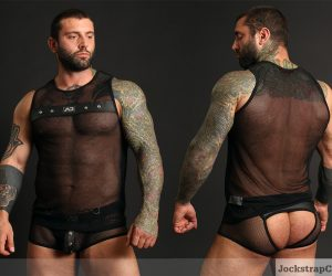 Simon Marini Addicted-fetish mesh underwear