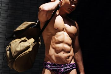 Model John photographed by Karim Konrad - Garcon Model swimwear