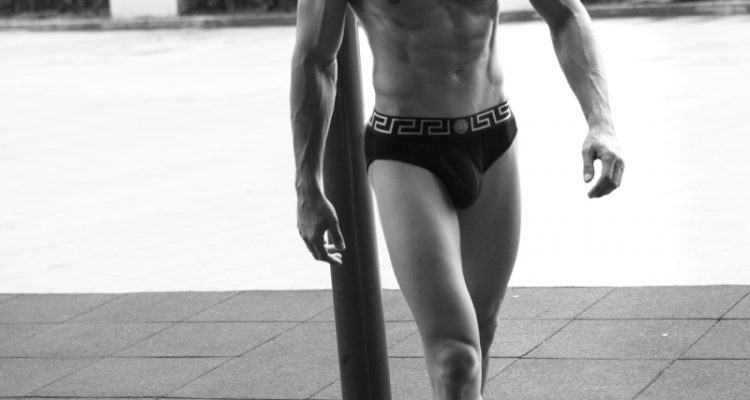 Taner Sigirtmac poses in Versace for Baldovino Barani