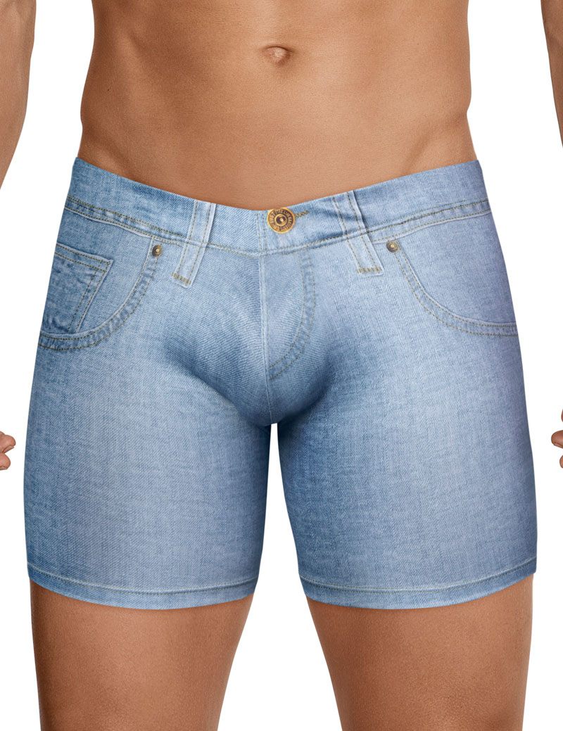 clever underwear - cowboy denim print boxers
