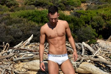 Stathis Kapravelos - Walking Jack Core white briefs