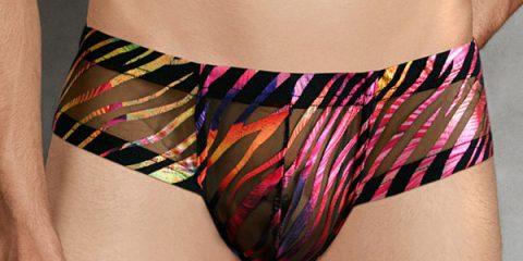 Doreanse underwear - Rainbow Zebra Mesh Bikini