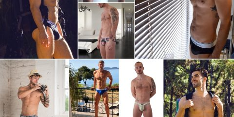 Men and Underwear - top10 Instagram posts