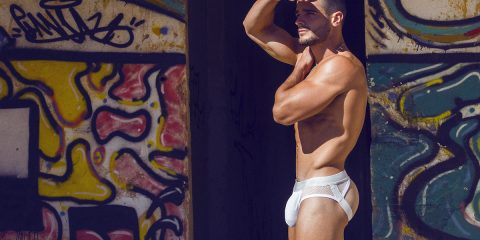 teamm8 jockstrap - Model Jorge photographed by Adrian C. Martin