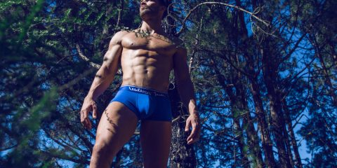Walking Jack underwear - Bluebird Trunks - Ricardo by Adrian C. Martin