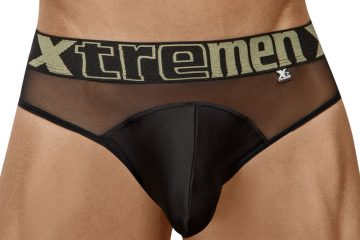 Xtremen underwear - Peekaboo Mesh Brief Black