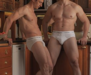Calvin Klein underwear - Models Roman and Ilya by Yani Hartonen