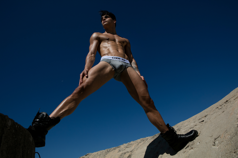 CODE 22 underwear - Essential Briefs Grey