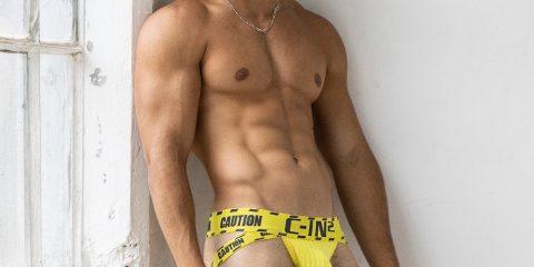 C-IN2 underwear - Caution jock yellow