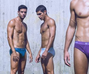 Teamm8 underwear - Super Low Stripe briefs campaign