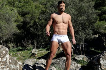 Greek model George Tsak in Walking Jack