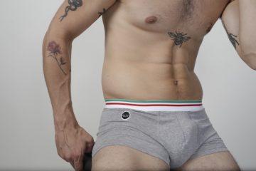 Ultimo Bacio - Italian underwear Forza Boxer briefs Grey