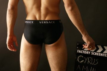 Versace underwear - Cyrus Amini by Baldovino Barani - FACTORY Screen test n1