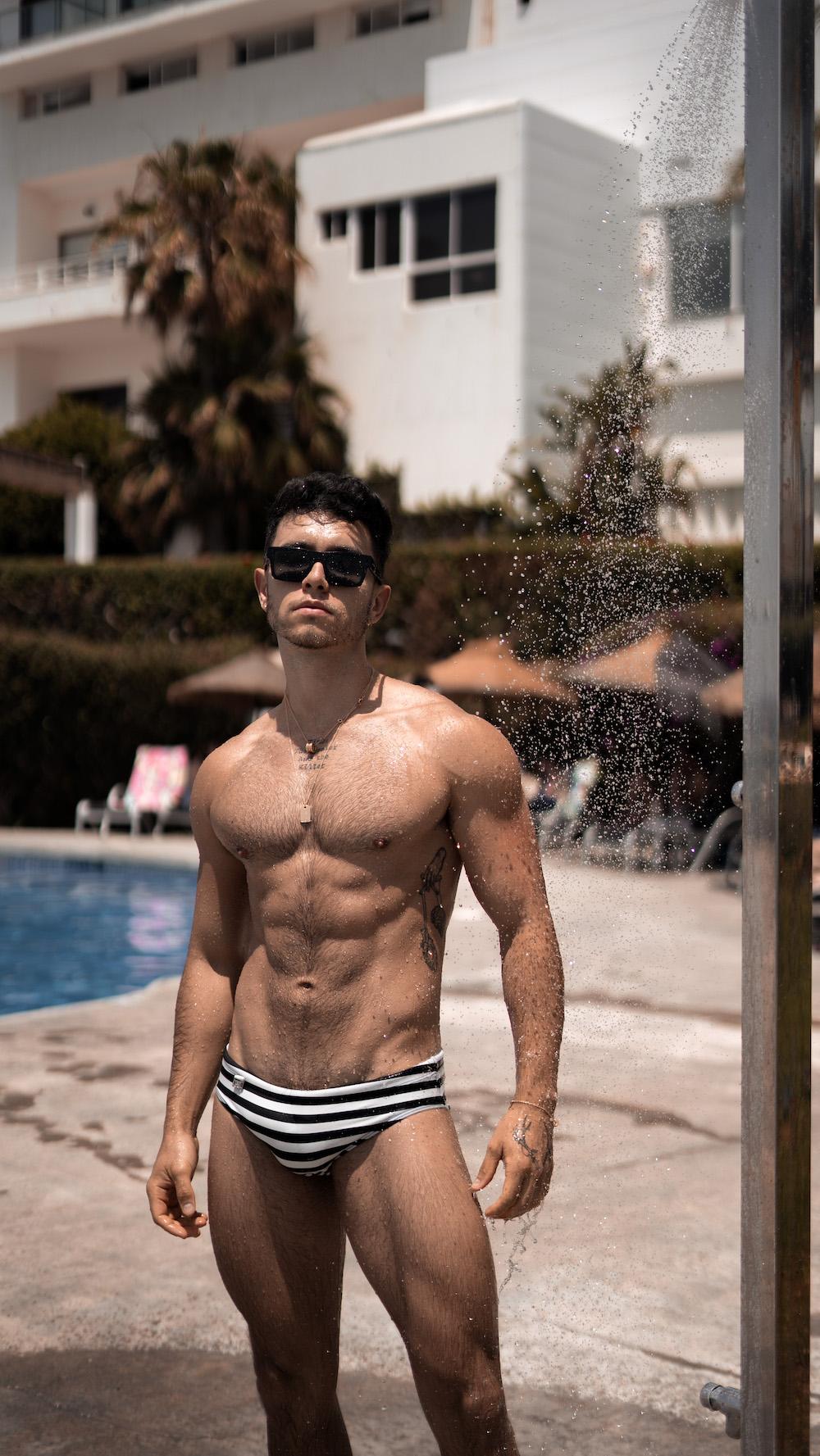 Model Alex photographed by Lawrence G. - Exodia swimwear